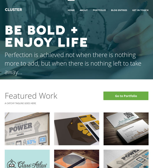 Flat Portfolio Website Templates