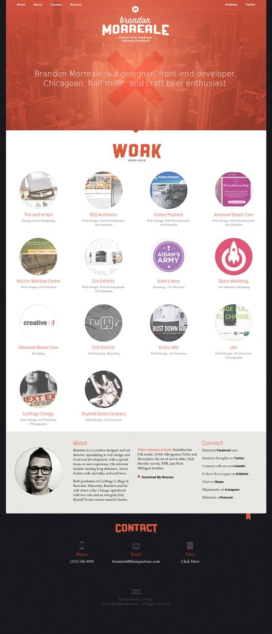 Minimal Portfolio Websites