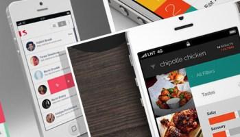 Flat Mobile App UI Designs
