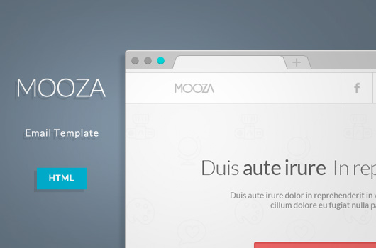 Free HTML Email: Mooza Newsletter Template | OmahPSD