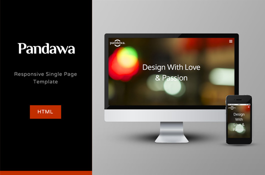 Pandawa - Simple Single Page HTML Template