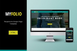 Free Responsive MyFolio HTML/CSS Template