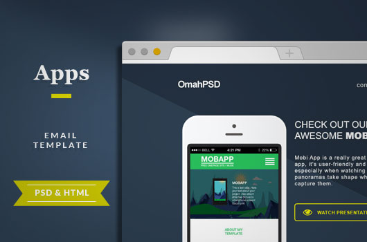 Free Html Email Mooza Newsletter Template Omahpsd