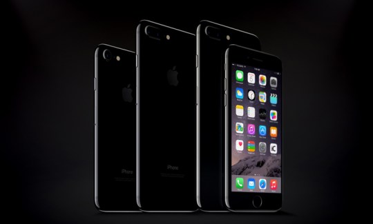 iPhone 7 & 7 Plus Jet Black Psd Mockup by GraphicBoat