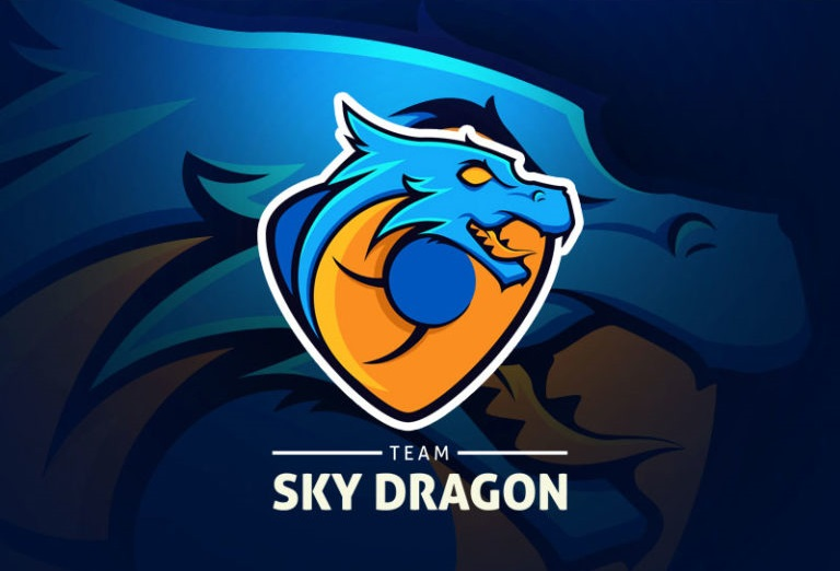 Sky Dragon Logo Template (AI, EPS)