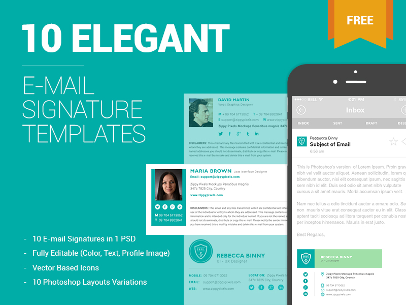 10 Free Email Signature Templates – OmahPSD