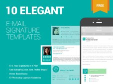 Free Email Signature Templates by ZippyPixels