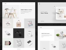 Free PSD Snow - Minimal Porfolio Website Template