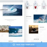 Surfing Free PSD Website Template