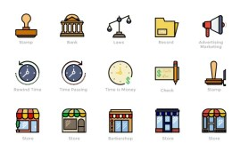 170 Retro Business Icons by Smashicons