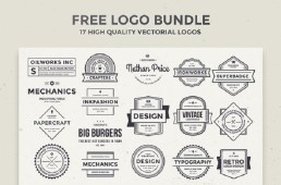 Free 17 High-Quality Vector Logos Bundle by AlienValley