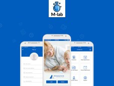 Free M-Lab Medical Mobile App Design