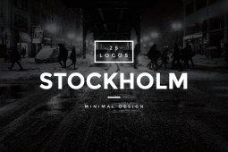Stockholm 25 Minimal Vintage Logos by WornOutMedia