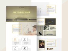 Wolfhead One Page Corporate Web Template by Shakil Ahmed