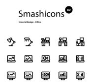 Smashicons 80 Material Office Icons