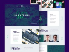 Agency Landing Page PSD Template by Cosmin Negoita