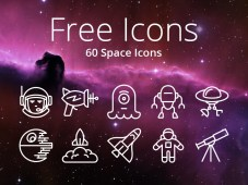 60 Free Space iOS Icons by PixelLove