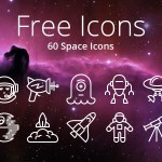 60 Free Space iOS Icons