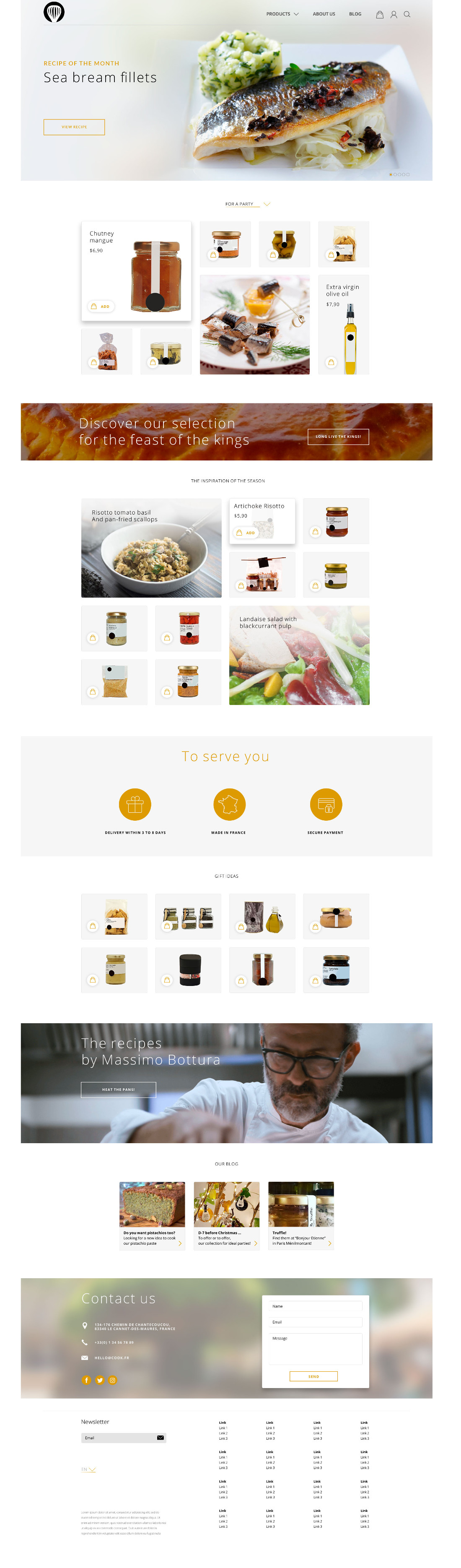 Food Product Page Template (PSD)