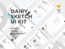 Free Dairy UI Kit