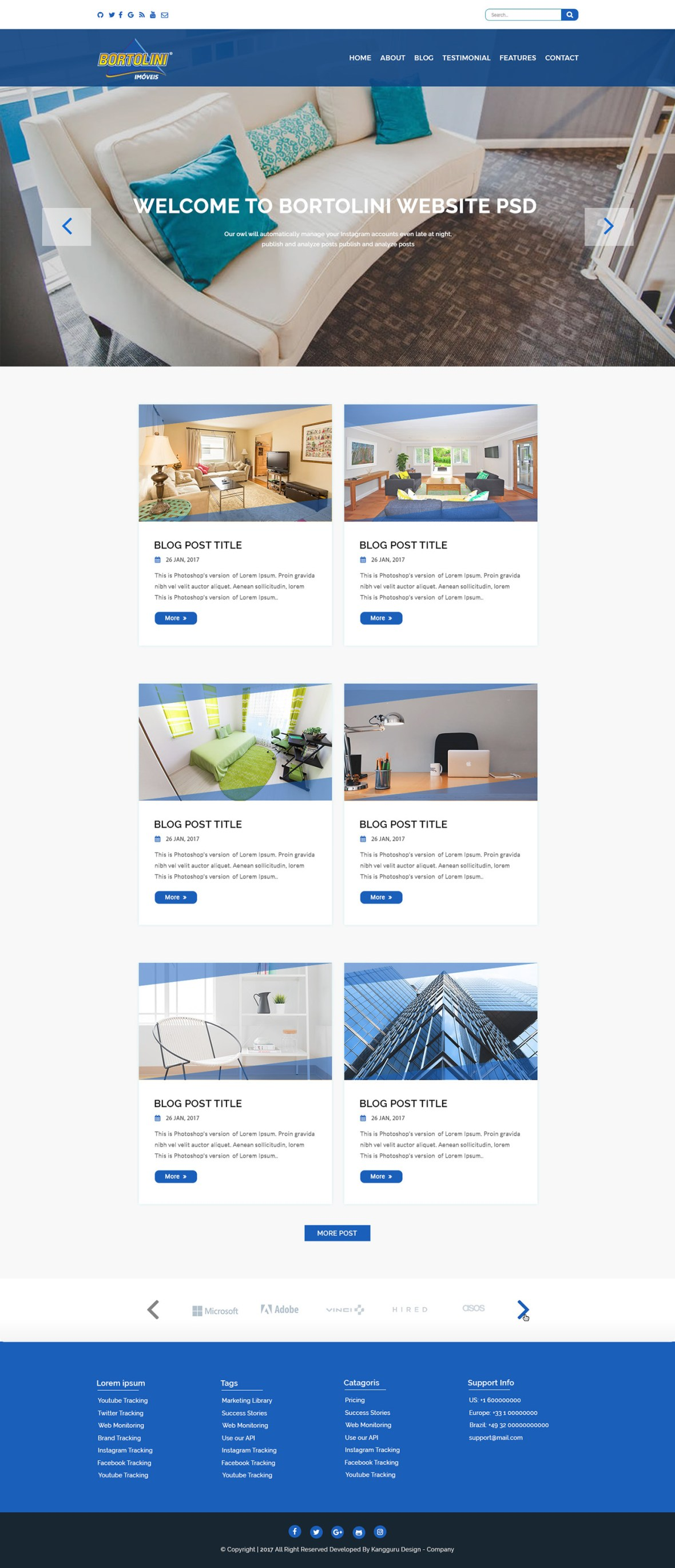 Free Real Estate Website PSD Template