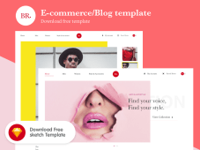 BR - Free eCommerce Website Template