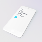 Free White Matte iPhone Mockup (PSD)