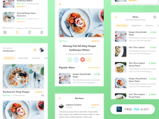 Free Restaurant App UI Kit