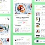 Restaurant App UI Kit (PSD)
