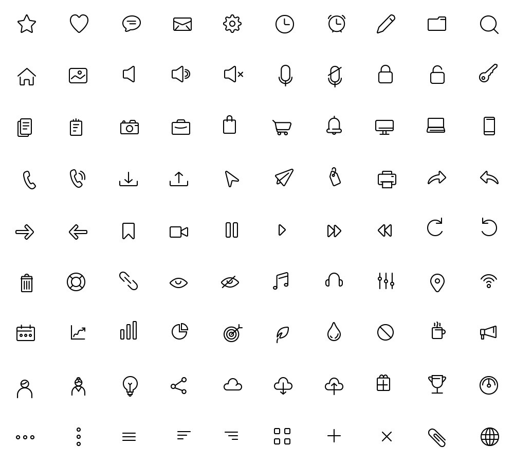 Free 90 Essential Icons