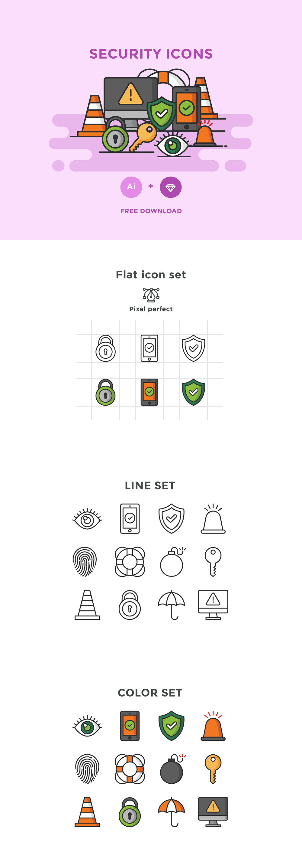 Free Vector Security Icon Set