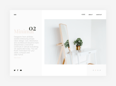 Free Minimal Website Design Concept