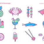 50 Delicious Food & Beverage Vector Icons (EPS, AI, PNG, PDF and SVG)