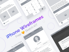 iPhone Wireframes Sketch