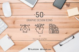 Free 50 High-Quality Graphic Design Icons