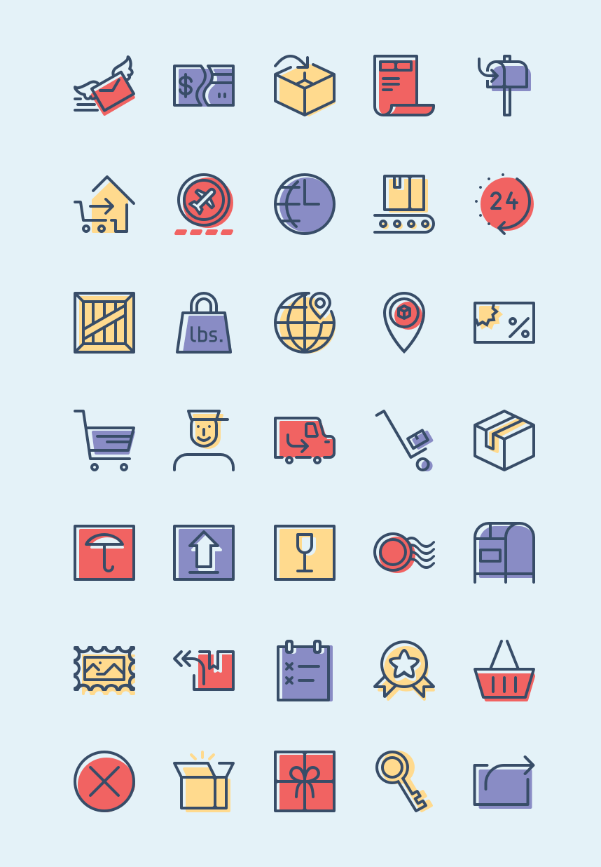 Free Checkout and Delivery Icons