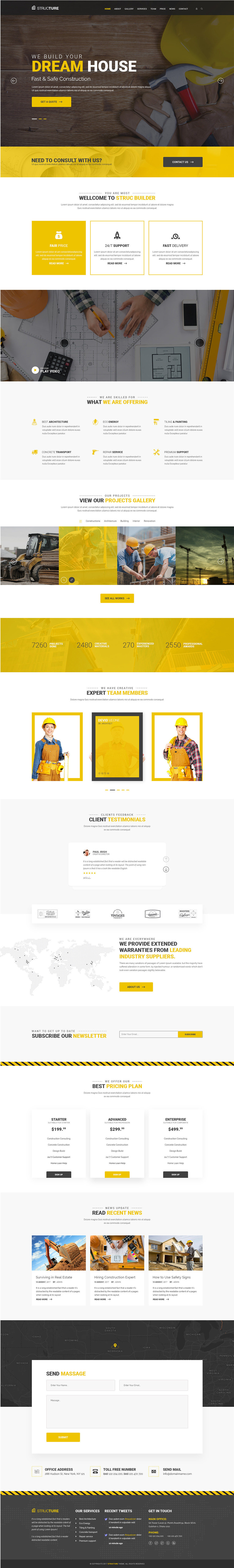 Structure Construction Website PSD Template