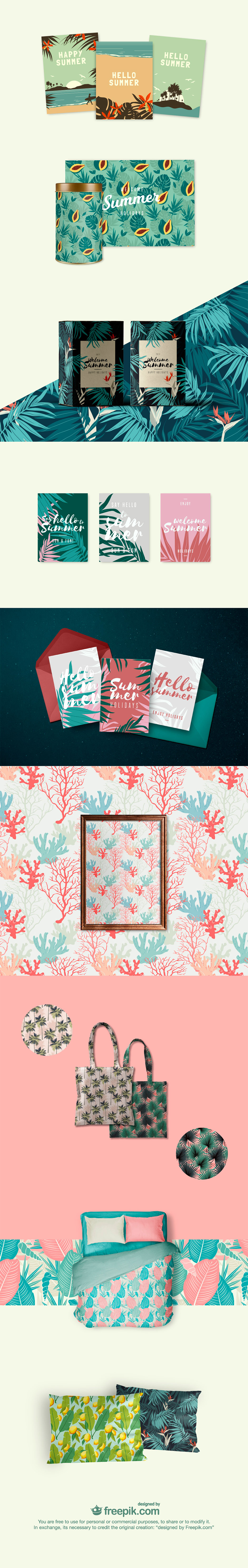Free Vintage Summer Vectors and Patterns