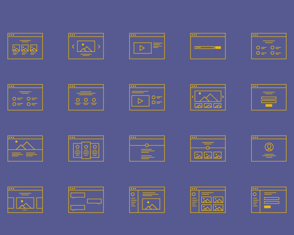 Free Wireframe Icon Set