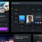 Free Dark Sports UI (PSD)