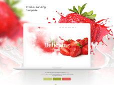 Free Delicious Strawberry Landing Page
