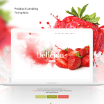 Free Strawberry Shop Landing Page (PSD)