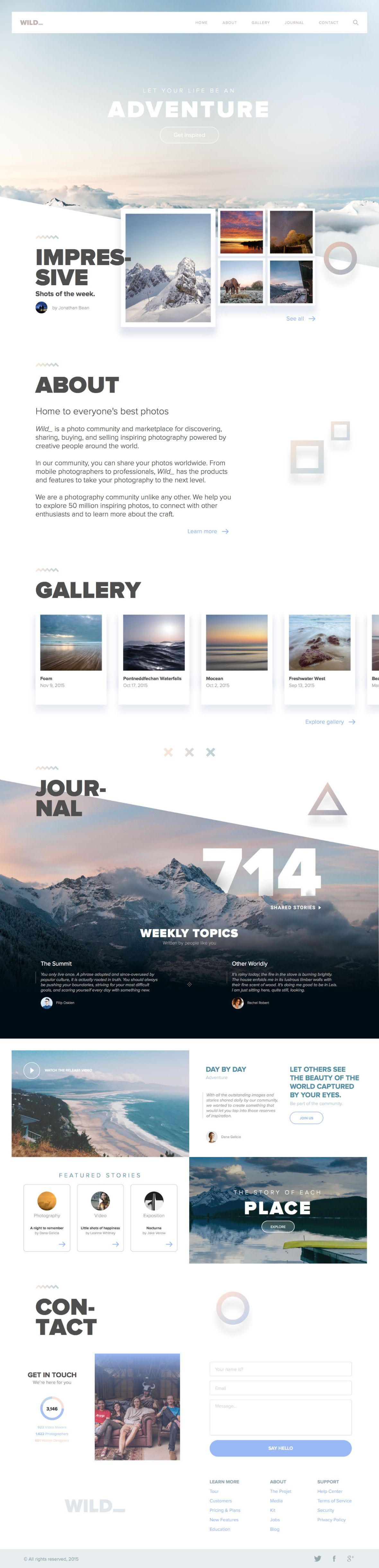 Free Wild Website Template for Sketch