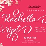 Rachell Script – Free Modern Calligraphy Typeface
