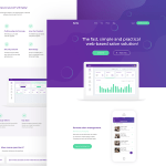 Spiky Salon Software Landing Page PSD Template