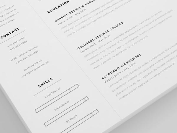 Clean and Minimal Resume Template + Cover Letter (AI)
