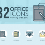32 Office Icons (AI, EPS, SVG, and TIFF)