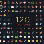 120+ Free Colorful Ficons Icons (PSD)