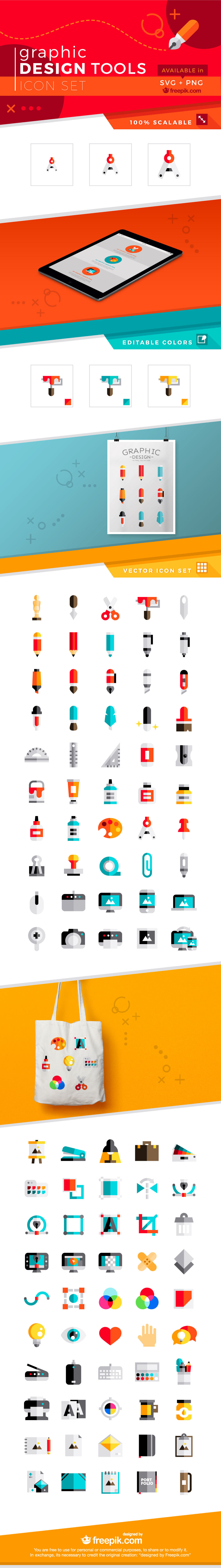 Free 100 Graphic Design Tools Icons