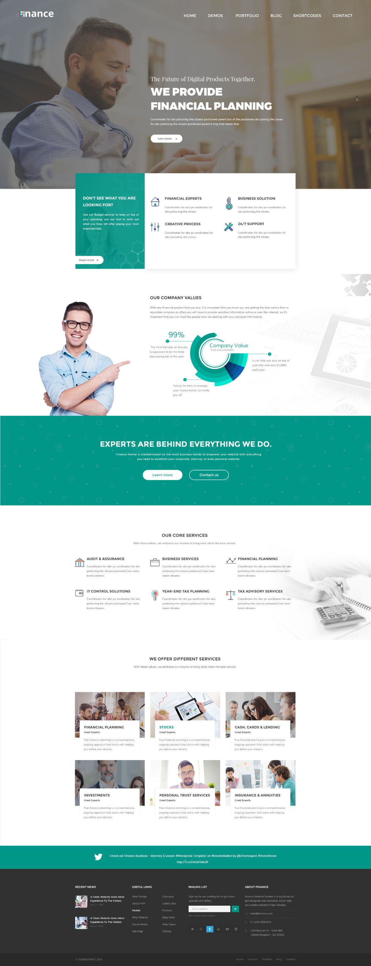 Free Finance Consulting Business Website Template